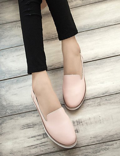 ShangYi gyht Scarpe Donna - Mocassini - Tempo libero / Casual - Punta arrotondata - Piatto - Finta pelle - Blu / Rosa / Bianco Pink