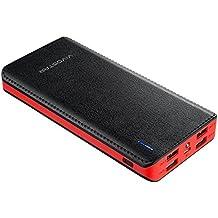 Cargadores Portátiles 20000mAh,VivoStar Power Bank Batería Externa 4 Puertos Carga Rápida para iPhone X,iPad,Samsung,Nexus y Más (Negro y Rojo)