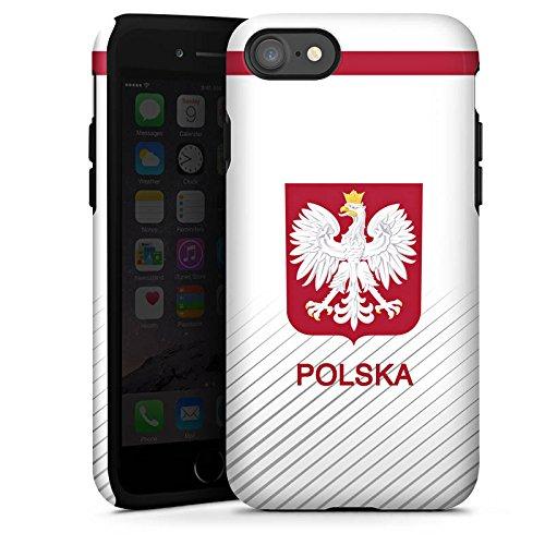 Apple iPhone X Silikon Hülle Case Schutzhülle Polen EM Trikot Fußball Europameisterschaft Tough Case glänzend