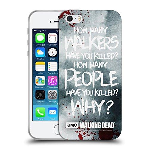 Ufficiale AMC The Walking Dead Rick Questions Citazioni Cover Morbida In Gel Per Apple iPhone 5 / 5s / SE Rick Questions