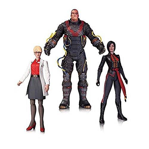 Dc Collectibles Batman: Arkham Origins: The Electrocutioner, Dr. Harleen Quinzel, And Donna Shiva Action Figura Set