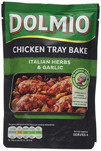 DOLMIO Chicken Tray Bake Italian Herb and Garlic Sauce, 150 g