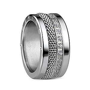 BERING Ring Selawik aus Edelstahl mit Zirkonia