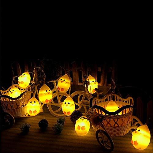 Ankamal Elec 1PC Pasqua LED String Lights, String Lights a Batteria Chick Shaped String Lights, per Giardino, casa, Patio, Matrimonio, Decorazioni pasquali (3m 20LED) - 2