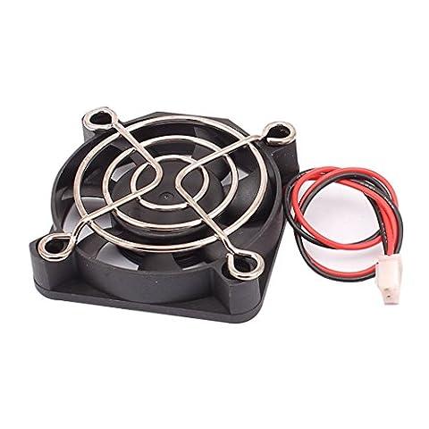 sourcingmap® DC 12V 50mmx50mmx10mm 7 Vanes Cooling Cooler Fan w Metal Finger Guard