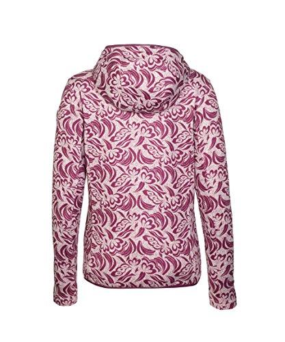 Michaelax-Fashion-Trade - Blouson - Gilet en maille - À Fleurs - Manches Longues - Femme Dunkelpink (00423)