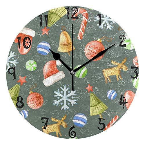 Restaurant B/üro K/üche Schule SZ Billiard Wanduhr Creative Clock Mute Wanduhr Pr/äzise PVC-Batterie Nicht im Lieferumfang enthalten Geeignet f/ür Home
