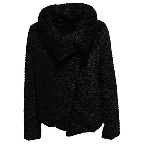 3943R giubbotto donna HERNO nero giacca jacket woman [46]