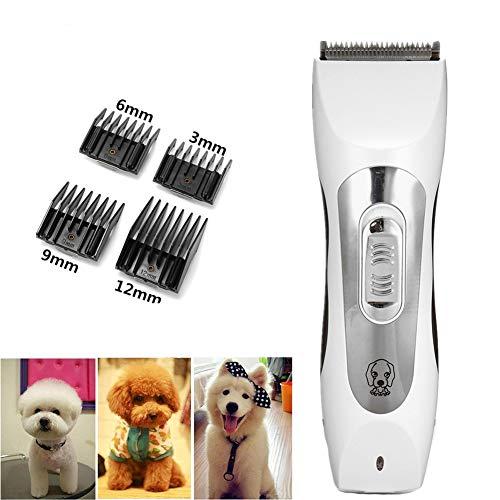 Elektrisch Haarspange Putzen Trimmer Kit 4 Comb Haustier Hunde Katze Wiederaufladbar Schnurlos Rostfrei Stehlen Abnehmbar