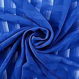 Anladia Blau Chiffon Modestoff/Dekostoff Kleiderstoff -