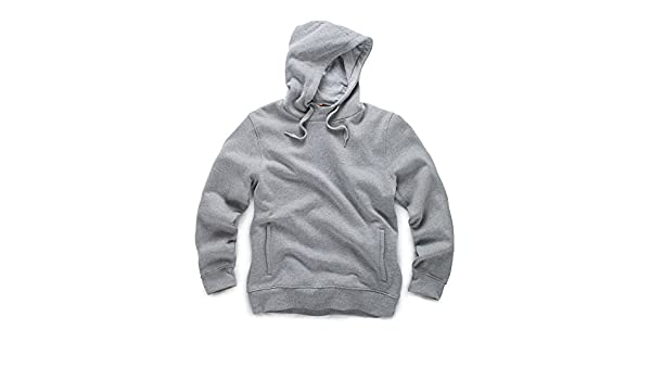 Sizes S-XXL Scruffs Worker Hoodie Grey Soft and Comfortable Jumper