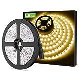 LE Tira LED, 5m 300 LED SMD 2835, Blanco C�lido No Impermeable 6000K para Techo, Escaparate, Muebles, etc.