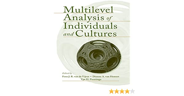 multilevel analysis of individuals and cultures van de vijver fons j r
