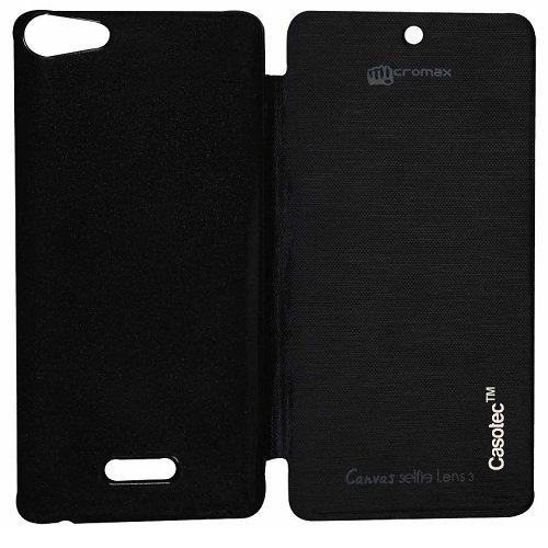 Casotec Premium Flip Case Cover for Micromax Canvas Selfie Lens Q345 - Black  available at amazon for Rs.175