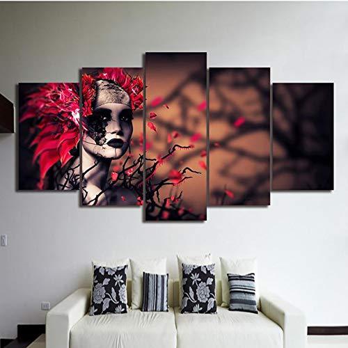 Modulare su Tela Stampe HD Poster Wall Art 5 Pezzi Strane Donne per Soggiorno Decorazioni per la casa Immagine Astratta Lavoro