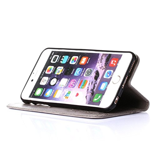 "iPhone 6 Plus Coque, LANDEE Ultra-mince PU Cuir Etui Portefeuille pour Apple iPhone 6 Plus / iPhone 6S Plus (5,5"") Housse Case (6Plus-P-0409) 6Plus-P-0403"