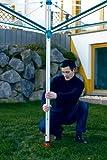 Leifheit Bodendübel mit Eindrehstange zum Einschrauben, Bodenhülse für sicheren Halt, Bodenanker auch für handelsübliche Wäsche- und Sonnenschirme Test