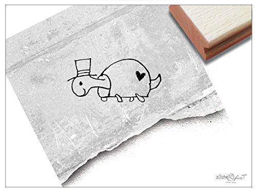 Stempel - Kinderstempel Schildkröte - Bildstempel Motivstempel Geschenk für Kinder - Schule Kita Einschulung Basteln Deko - von zAcheR-fineT