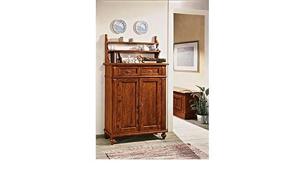 Credenza Con Piattaia Arte Povera : Estea mobili credenza legno con piattaia l p h