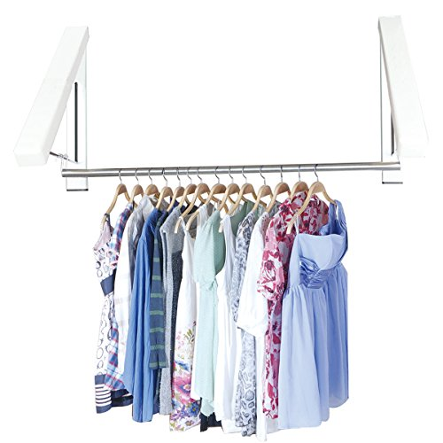 mkqpower-2-pcs-durable-hanger-2-stainless-steel-tube-folding-wall-hanger-mount-clothes-foldable-hang