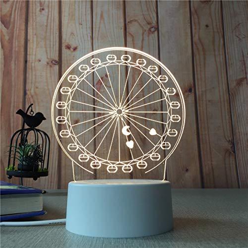 Preisvergleich Produktbild LED kreative Tischlampe Moderne minimalistische Nachtlicht Mädchen Herzform Modellierlampe Riesenrad 3