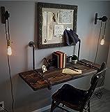 ZJM-tables American Industrial Style Wandtisch an der Wand befestigte Tabelle Küche Esstisch Computer Schreibtisch kreative Worktable Wandbehang (größe : 100 * 45cm)