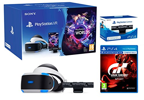 """PlayStation VR \""""GT Sport Pack\"""" Gran Turismo Sport + VR Worlds + PS4 Kamera V2 - VR Pack"""