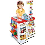 TFPS Kids Role Pretend Play Supermarket Superstore Shop Toys Set (Red)