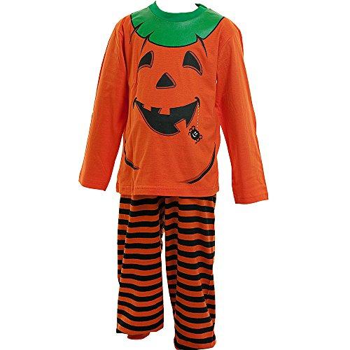 Dress Up Pyjamas Unisex Jungen Mädchen Hallow 'un Kürbis Kleid bis Schlafanzug Gr. 3 Jahre, Orange