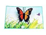 EJY Kreative 3D Pop-up Geschenkkarte- Glückwunschkarte,Klappkarte,Valentinstag-Grußkarte,Glückwunschkarte,Geschenkkarte, Weihnachtskarte,Das Beste Geschenk für Dich (Schmetterling)