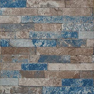 Arthome Stuccoed Brick Peel and Stick Wallpaper Décor (201-4)