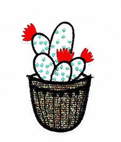 rabana Kaktus Afrika Cartoon Kids Kinder Cute Animal Patch für Heimwerker-Applikation Eisen auf Patch T Shirt Patch Sew Iron on gesticktes Badge Schild Kostüm (Niedliche Kaktus Kostüm)
