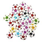 originaltree 50Colorful Fußball Holz Knöpfe mit 2Löcher, holz, Zufällige Farbauswahl, Einheitsgröße
