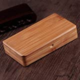 YXZN Zigarettenschachtel Handgemachte Magnet Flip Ultradünne Tragbare Bambus-Tabak Kiste Kann 20 Feine Zigaretten Halten,Color1,11.5X6.6X2.2CM