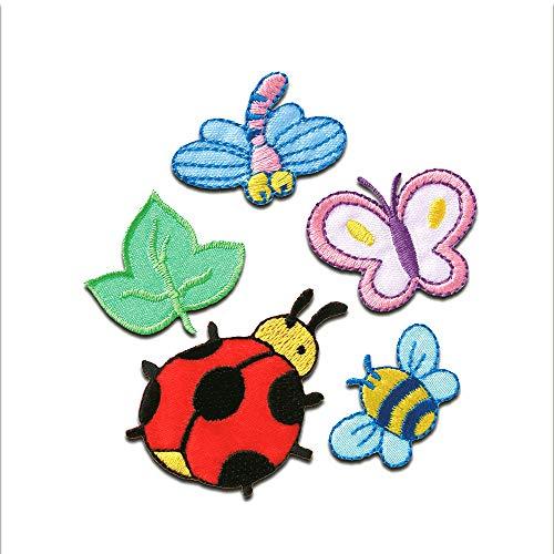 Aufnäher/Bügelbild - Set Käfer Kinder Tier - bunt - verschiedene Größen - Patch Aufbügler Applikationen zum aufbügeln Applikation Patches Flicken