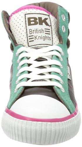 British Knights  ATOLL,  Scarpe da ginnastica alte donna Marrone (Braun (DK.BROWN/TURQUIOSE/PINK 2))
