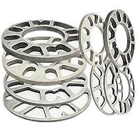 Separador Ruedas del Vehículo, 4 piezas de aleación de aluminio 4 y 5 lengüetas 3 / 5 / 8 / 10 / 12 mm de grosor universal Separadores de ruedas