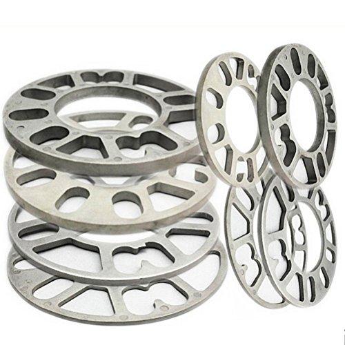 Preisvergleich Produktbild Rad Distanzscheiben,  4Pcs Aluminiumlegierung 4 und 5 Lug3 / 5 / 8 / 10 / 12mm Dicke Universal Rad Distanzscheiben