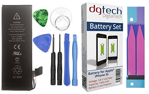 DigitalTech - Batería compatible con iPhone 5s de alta capacidad con...