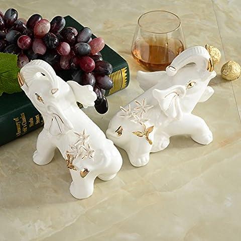 kreative europäische praktische inneneinrichtungsgegenstände keramik - elefanten ornamente auszeichnungen