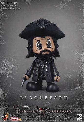 Pirates des Caraïbes La Fontaine de Jouvence figurine Cosbaby série S Blackbeard 8 cm