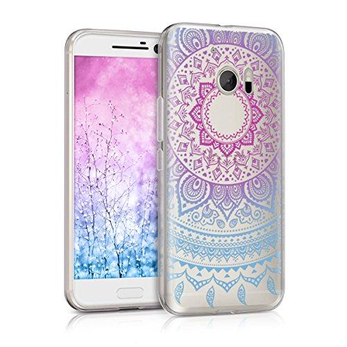 kwmobile HTC 10 Hülle - Handyhülle für HTC 10 - Handy Case in Blau Pink Transparent