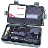 Koly Kit de Linterna brillante 5000LM X800 G700 Shadowhawk CREE T6 LED antorcha lámpara