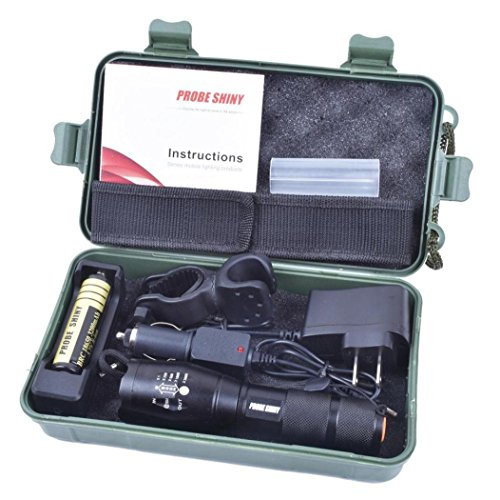 Koly Kit de Linterna brillante 5000LM X800 G700 Shadowhawk CREE T6 LED