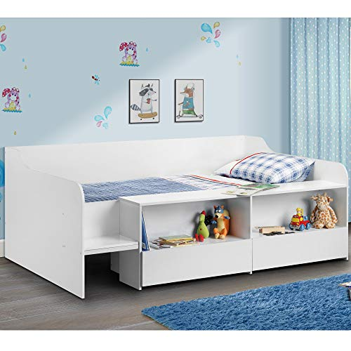 Happy Beds Cabin Bed Low Sleeper White Storage Frame for sale  Delivered anywhere in UK