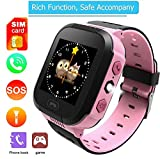melysEU Muti-Funktion Smart Watch mit GPS-Handy-Basisstation Positionierung Handgelenk GM8 Kleinkind (Rosa)