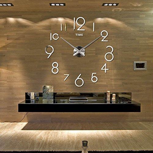 Action Life Up 3d Wanduhr Modern Xxxl Silber Diy Kreatives Design