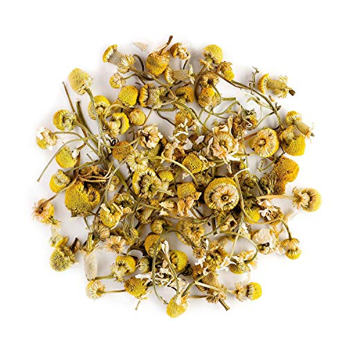 Camomile Organic Herbal Tea Flowers - Soothing and Relaxing - Wild Matricaria Pure Leaf Chamomile - Also Called Ground Apple, Low camomilla, Mother's Daisy or Whig Plant 100g