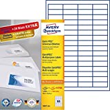 AVERY Zweckform 3667-200 Etiketten (A4, 200 Plus 20 Universal-Etiketten extra, 48,5 x 16,9 mm, 220 Blatt) weiß