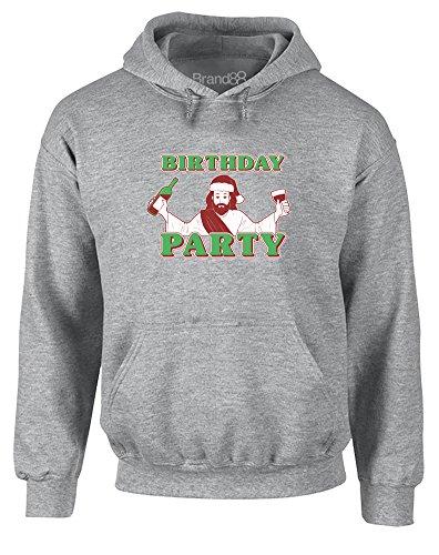 uckt Hoody - Pullover - Grau/Transfer S = 86-91 cm (Jesus Birthday Party)
